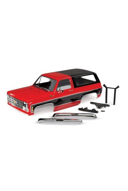 BODY, CHEVROLET BLAZER (1979), COMPLETE (RED) (INCLUDES GRILLE, SIDE MIRRORS, DOOR HANDLES, WINDSHIELD WIPERS, FRONT & REAR BUMPERS, DECALS)