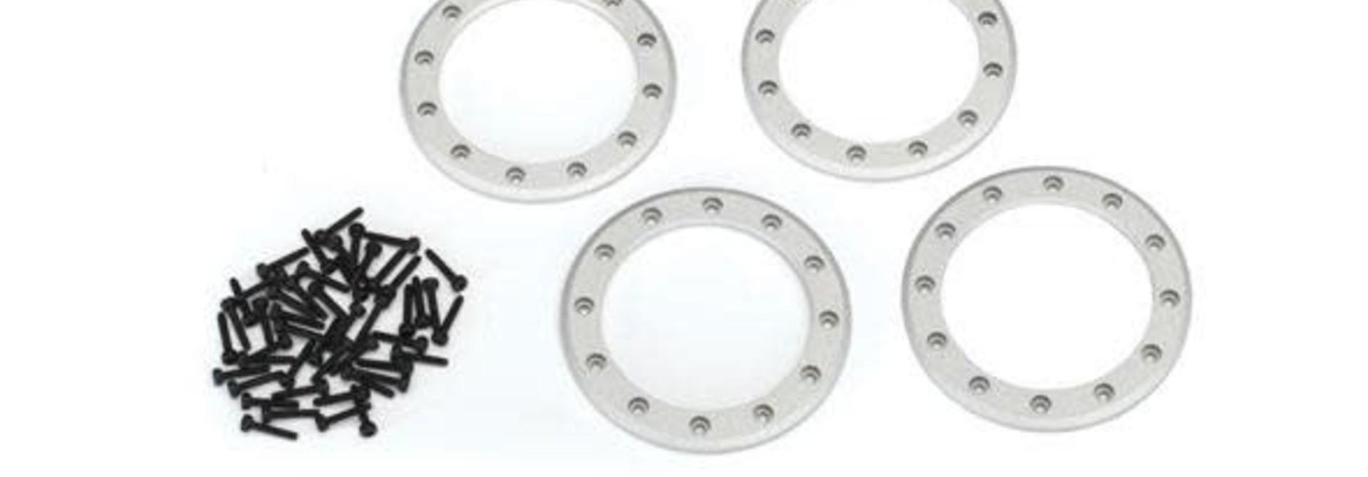Beadlock rings, satin (2.2) (aluminum)(60mm (1)/ panhard link, 5x63mm (blue pow