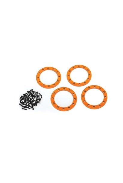 Beadlock rings, orange (2.2) (aluminum)  (4)/ 2x10 CS (48)