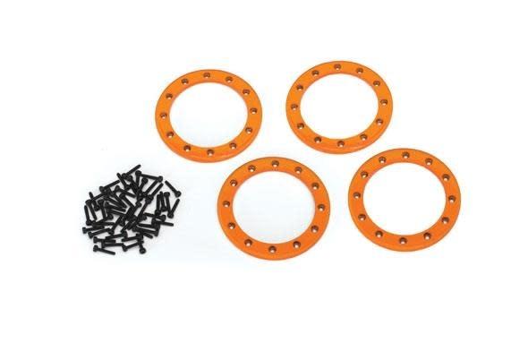 Beadlock rings, orange (2.2) (aluminum)  (4)/ 2x10 CS (48)-1