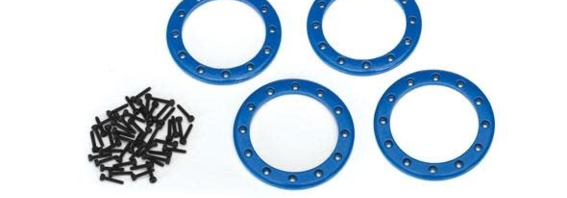 Beadlock rings, blue (2.2) (aluminum) (4)/ 2x10 CS (48)