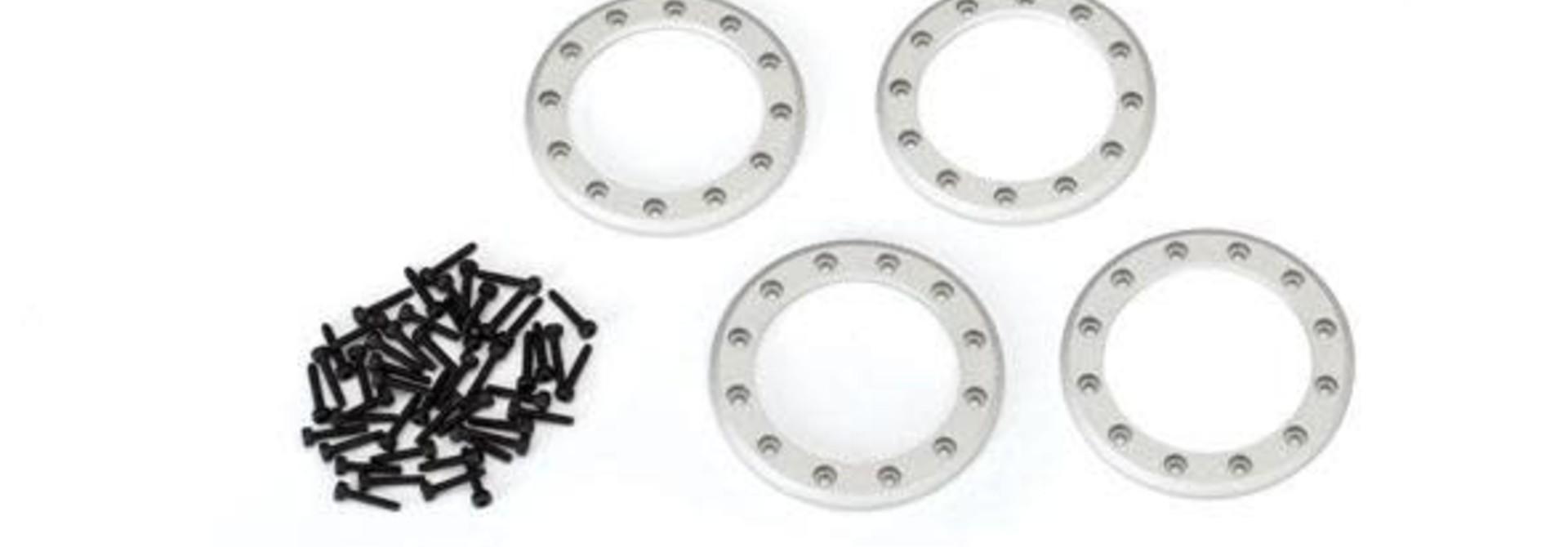 Beadlock rings, satin (1.9') (aluminum) (4)/ 2x10 CS (48)