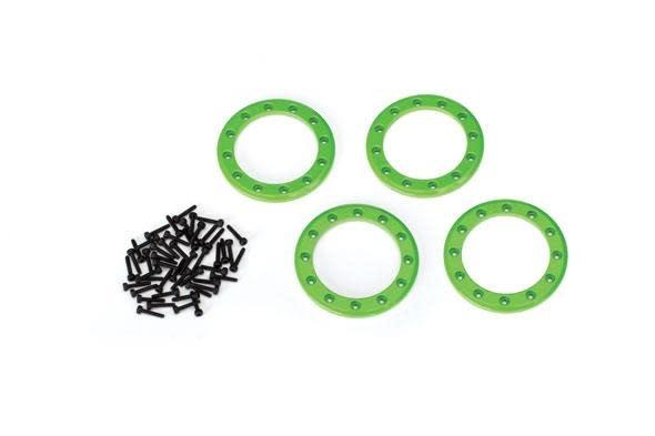 Beadlock rings, green (1.9') (aluminum) (4)/ 2x10 CS (48)-1