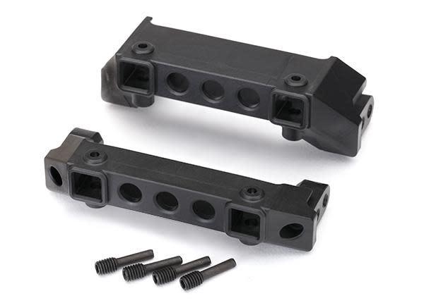 Bumper mounts, front & rear/ screw pins (4), TRX8237-2