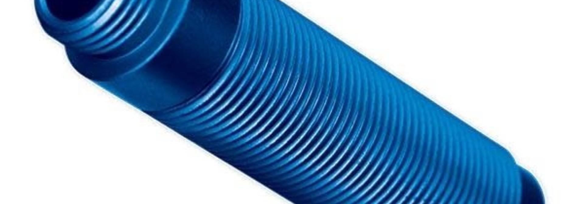 Body, GTS shock, aluminum (blue-anodized) (1), #TRX8266A