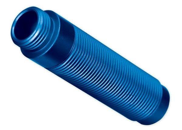 Body, GTS shock, aluminum (blue-anodized) (1), #TRX8266A-1