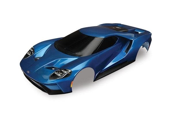 Body, Ford GT, blue (painted, decals applied), TRX8311A-1