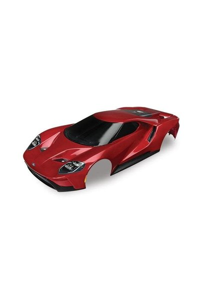 Body, Ford GT, red (painted, decals applied), TRX8311R
