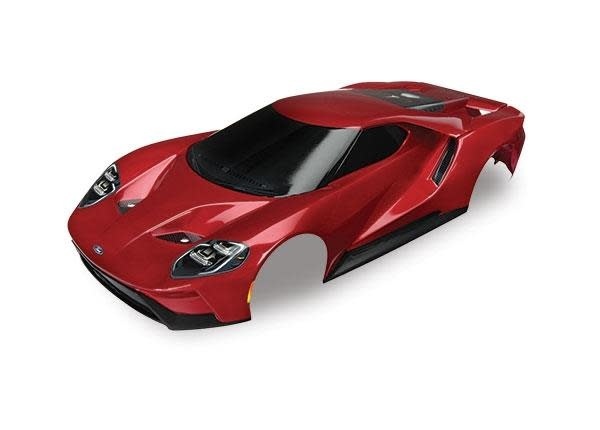 Body, Ford GT, red (painted, decals applied), TRX8311R-1