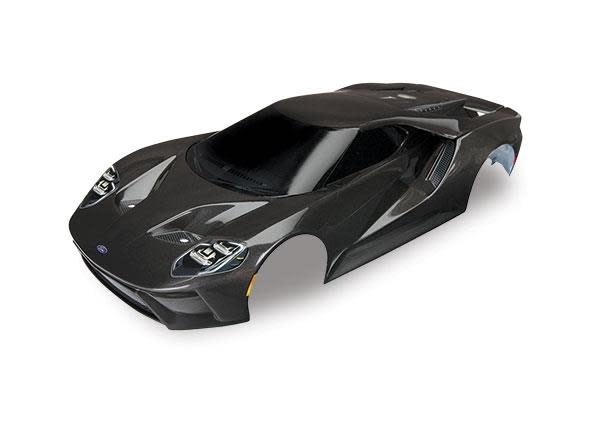 Body, Ford GT, black (painted, decals applied), TRX8311X-1