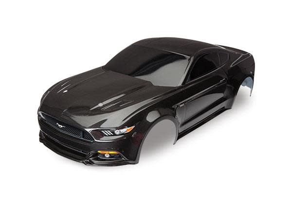 Body, Ford Mustang, black (painted, decals applied), TRX8312X-1