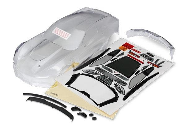 Body, Chevrolet Corvette Z06 (clear, requires painting)/ decal sheet (includes s-1