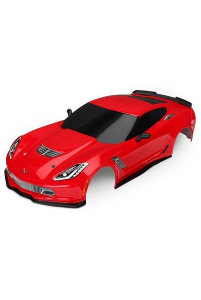 Body, Chevrolet Corvette Z06, red (painted, decals applied)