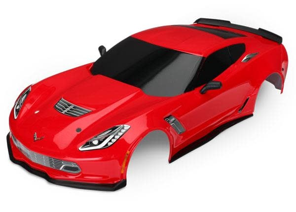 Body, Chevrolet Corvette Z06, red (painted, decals applied)-1