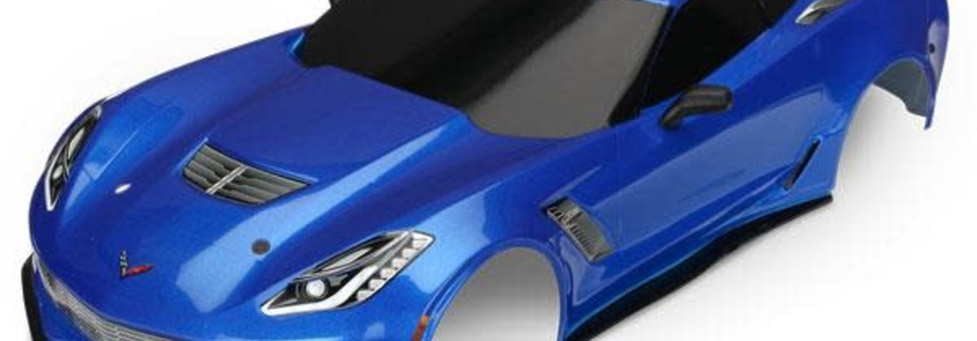 Body, Chevrolet Corvette Z06, blue (painted, decals applied)