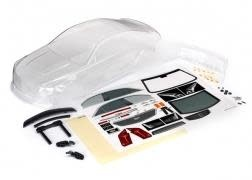 Body, Cadillac CTS-V (clear, requires painting)/ decal sheet (includes side mirr-1