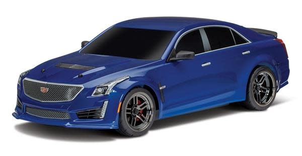 Body, Cadillac CTS-V, blue (painted, decals applied)-1