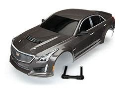 Body, Cadillac CTS-V, silver (painted, decals applied)-1