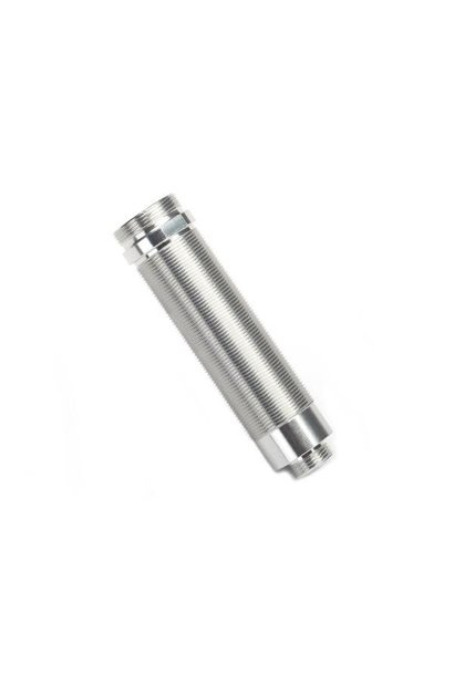 Body, GTR shock, 64mm, silver aluminum (front, threaded)