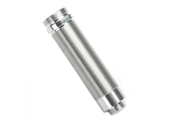 Body, GTR shock, 64mm, silver aluminum (front, threaded)-1