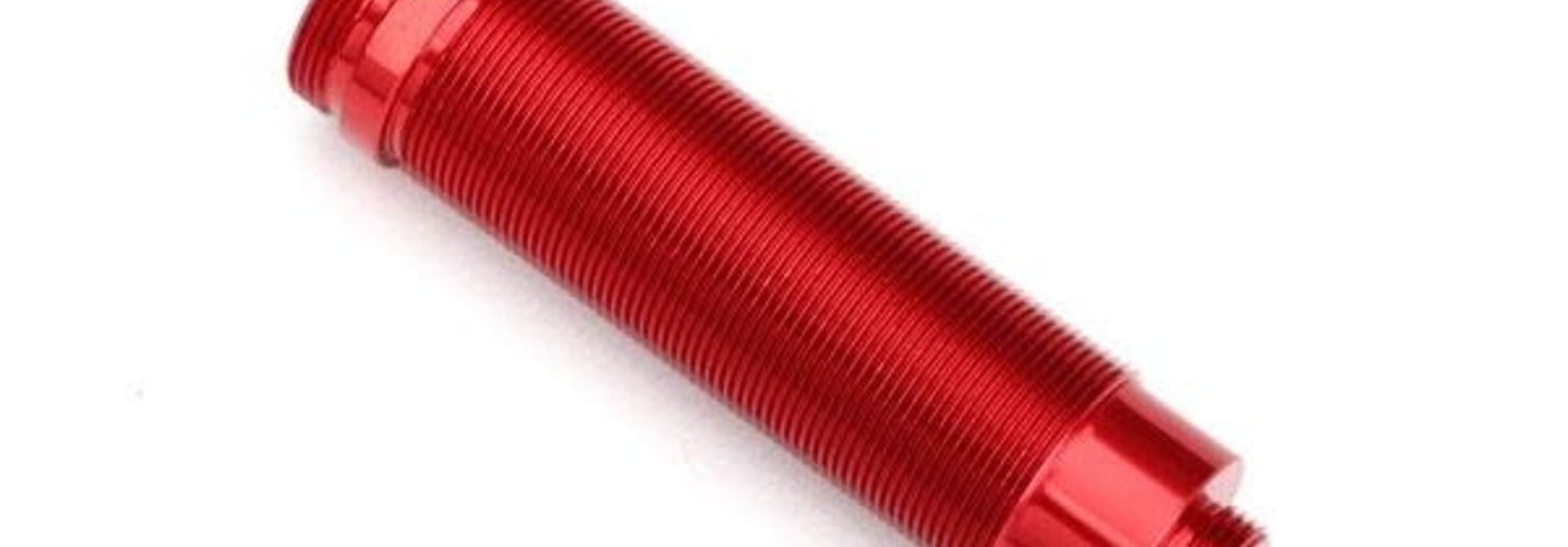Body, GTR shock, 64mm, aluminum (red-anodized) (front, threaded)