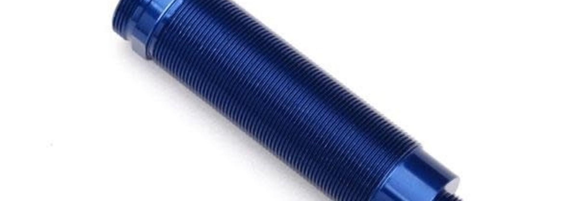 Body, GTR shock, 64mm, aluminum (blue-anodized) (front, threaded)