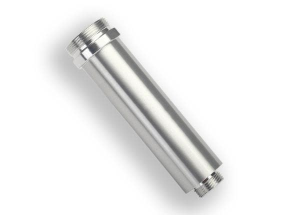 Body, GTR shock, 64mm, silver aluminum (front, no threads)-1