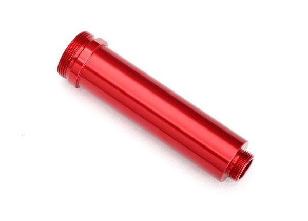 Body, GTR shock, 64mm, aluminum (red-anodized) (front, no threads)-1