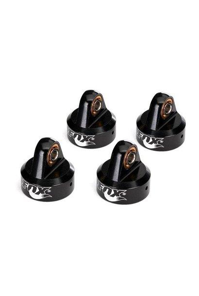 Shock caps, aluminum (black-anodized), Fox Shocks (4)