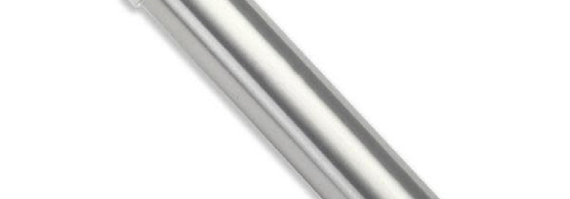 Body, GTR shock, 77mm, silver aluminum (rear, no threads)