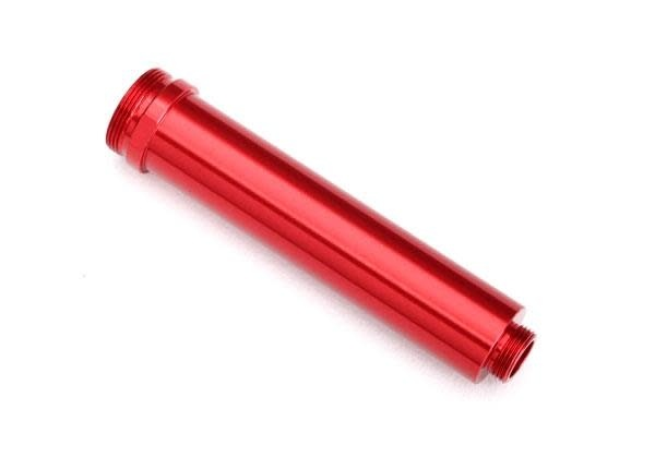 Body, GTR shock, 77mm, aluminum (red-anodized) (rear, no threads)-1