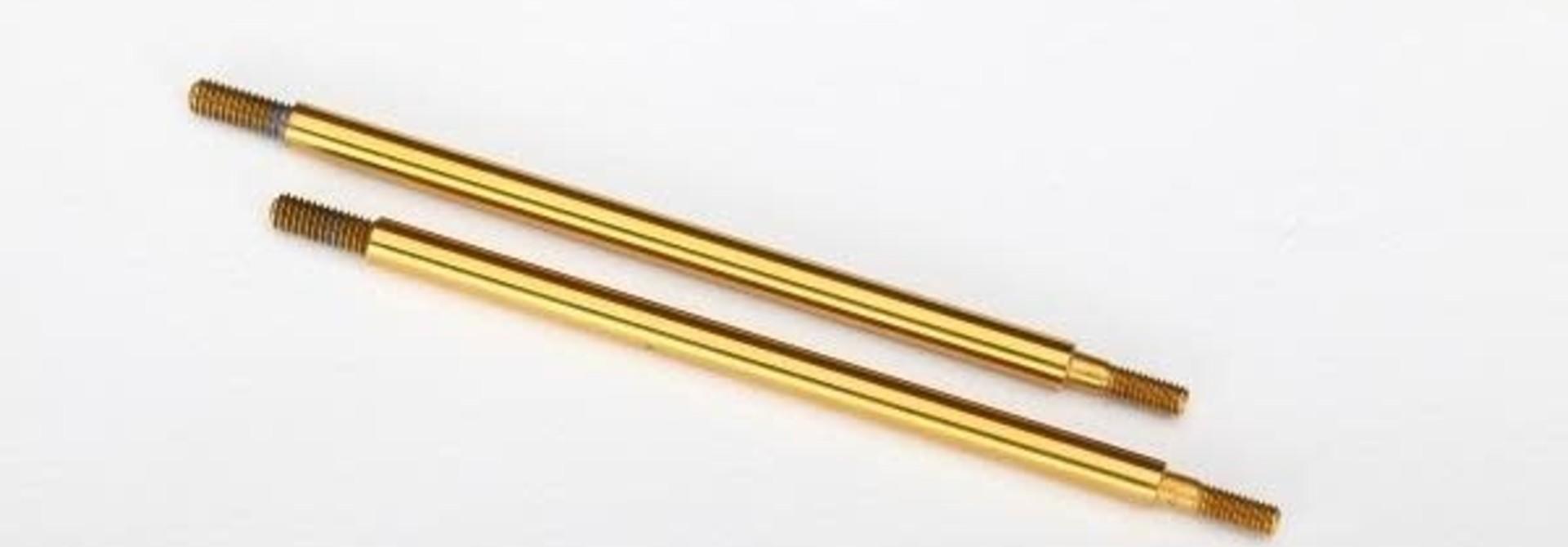8463T - Shock shaft, 74mm (GTR) (rear) (TiN-coated) (2)