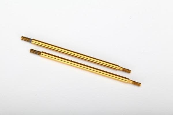 8463T - Shock shaft, 74mm (GTR) (rear) (TiN-coated) (2)-1