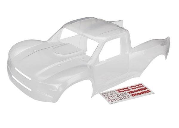 Body, Desert Racer (clear, trimmed, requires painting)/ decal sheet-1