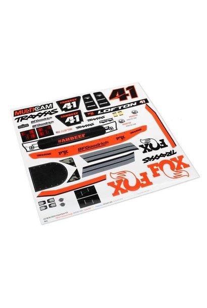 Decals, Unlimited Desert Racer, Fox Edition
