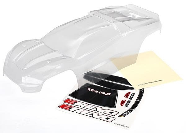 Body, E-Revo (clear, requires painting)/window, grill, lights decal sheet-1