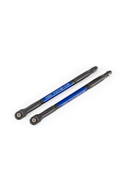 Push rods, aluminum (blue-anodized), heavy duty (2) (assembled with rod ends and threaded inserts)