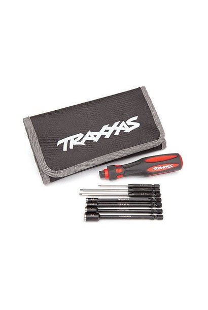 Traxxas Speed Bit Essentials Set, hex and nut driver, 7-piece, includes premium, TRX8712