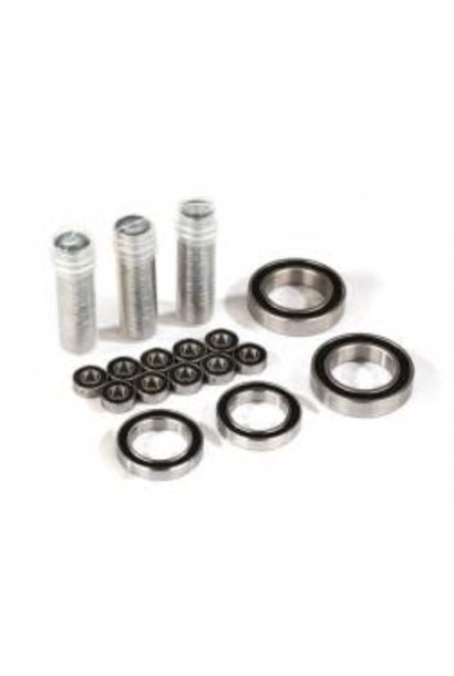 Ball bearing set, TRX-4 Traxx, black rubber sealed, stainless (contains 5x11x