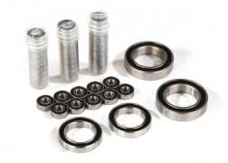 Ball bearing set, TRX-4 Traxx, black rubber sealed, stainless (contains 5x11x-1