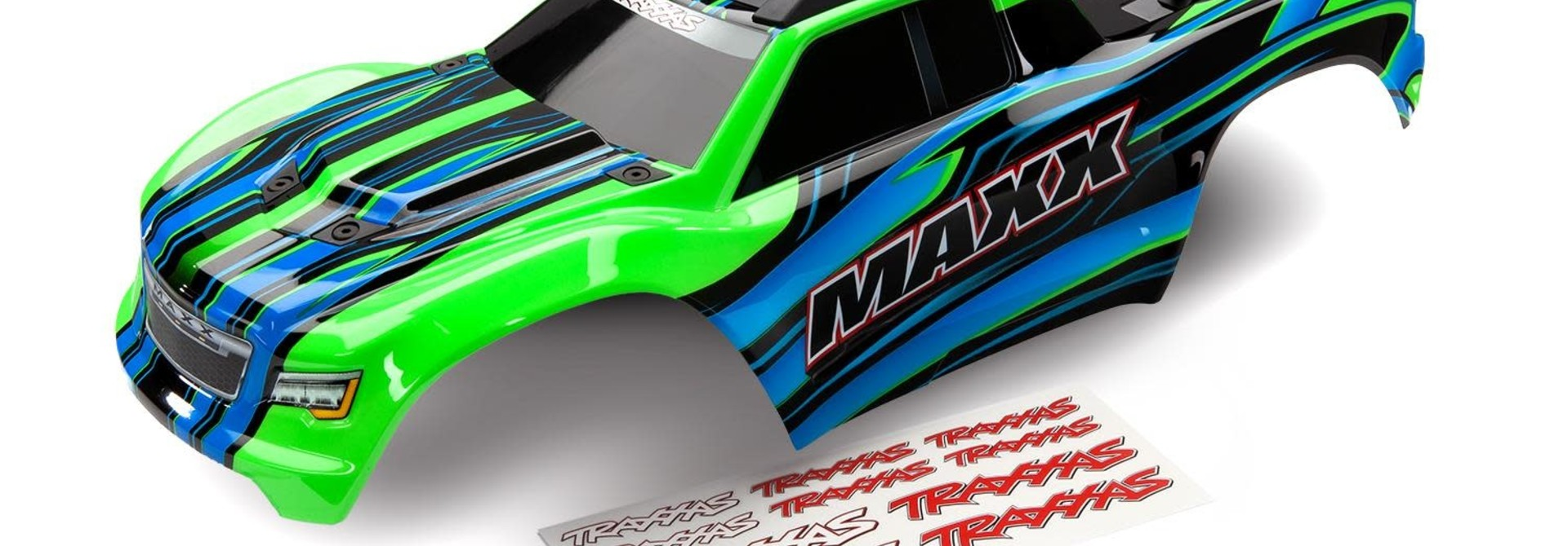 BODY, MAXX, GREEN (PAINTED)/ DECAL SHEET