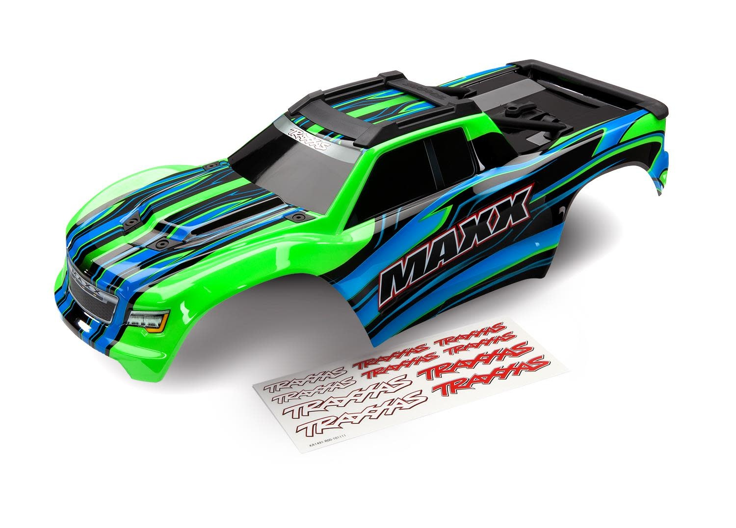 BODY, MAXX, GREEN (PAINTED)/ DECAL SHEET-1