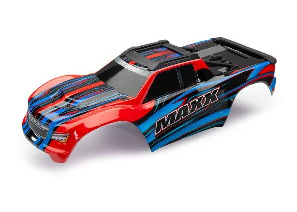 Body, Maxx, red (painted)/ decal sheetBody Maxx Red Decals-1