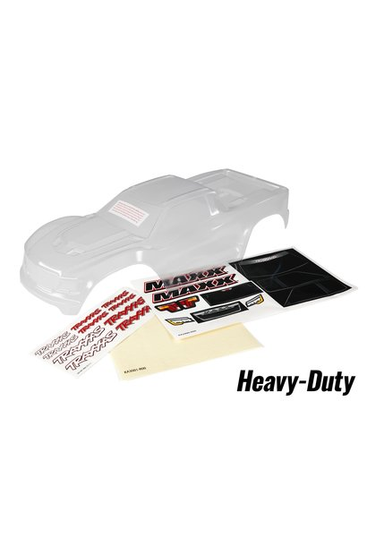 Body, Maxx, heavy duty (clear, untrimmed, requires painting)/ window masks/ deca