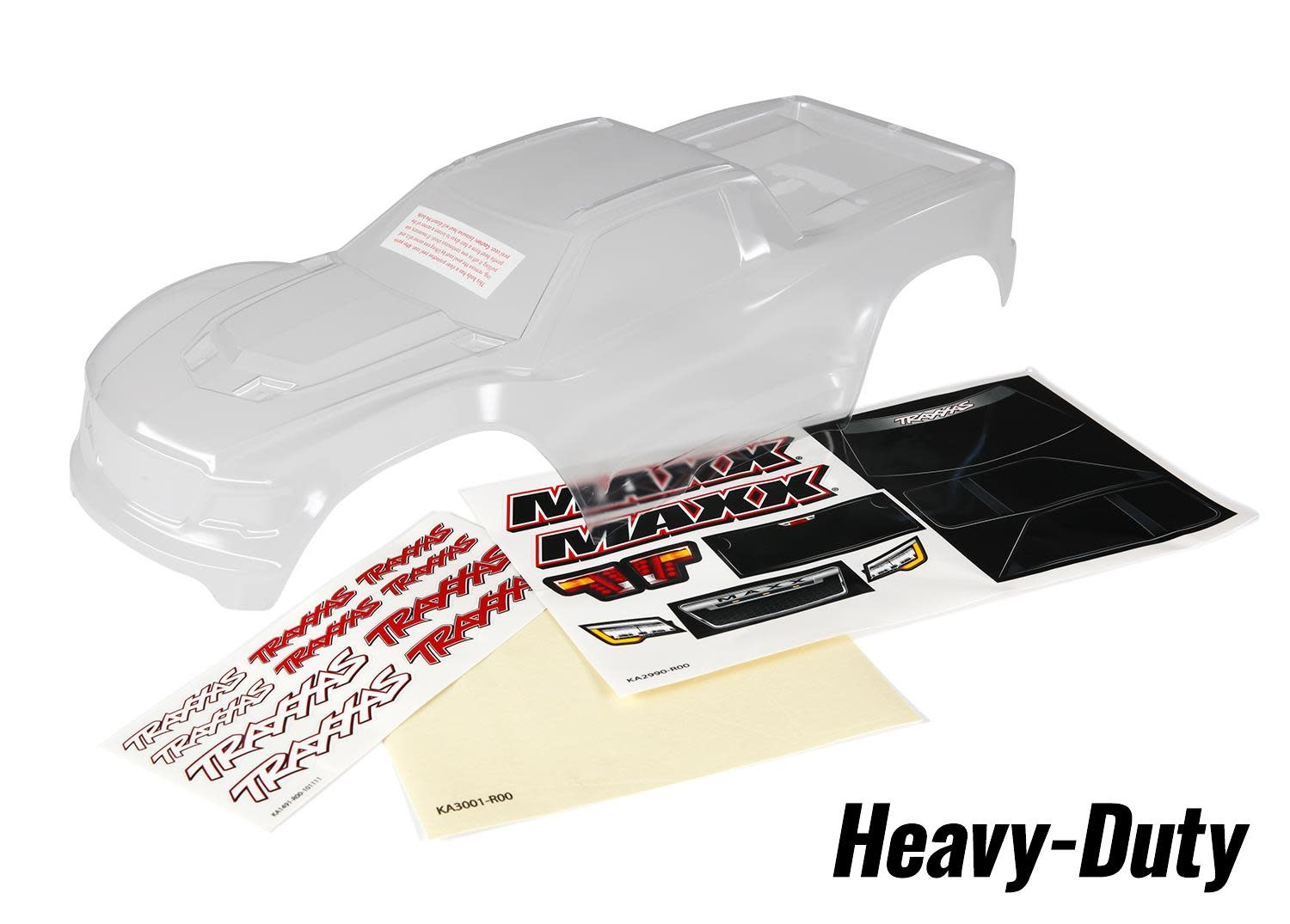 Body, Maxx, heavy duty (clear, untrimmed, requires painting)/ window masks/ deca-1
