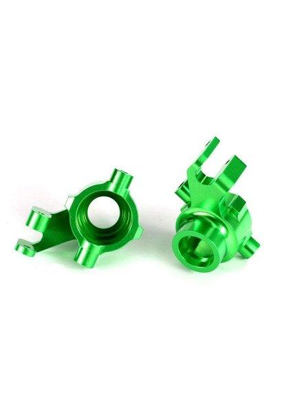 Steering blocks, 6061-T6 aluminum (green-anodized), left & right