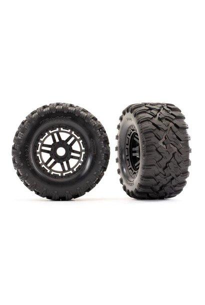 Tires & wheels, assembled, glued (black wheels, Maxx All-Terrain tires, foam ins
