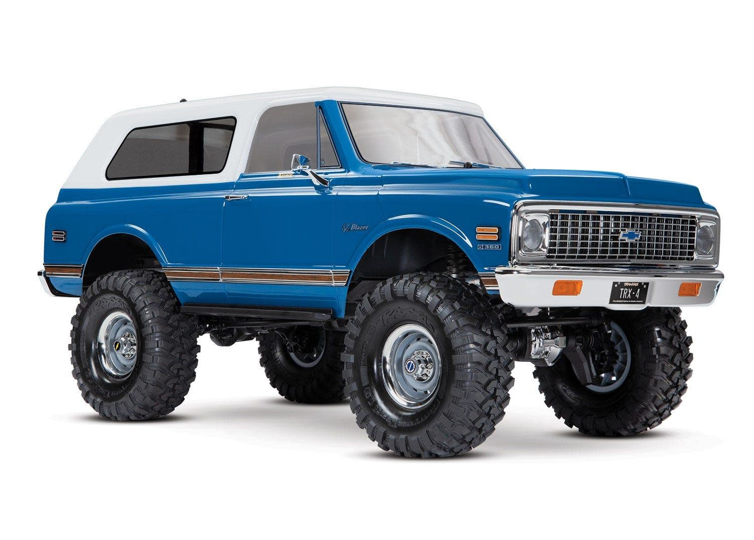 Body, Chevrolet Blazer (1972), complete (blue) (includes grille, side mirrors, door handles, windshield wipers, front & rear bumpers, decals)-1