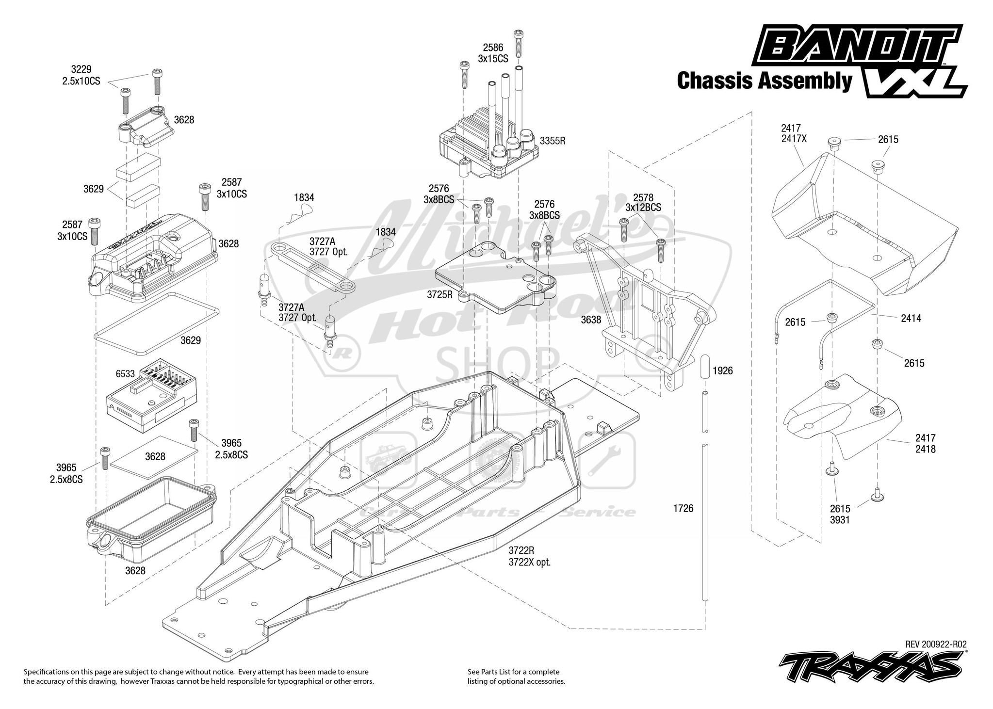 Bandit VXL Chassis Assembly