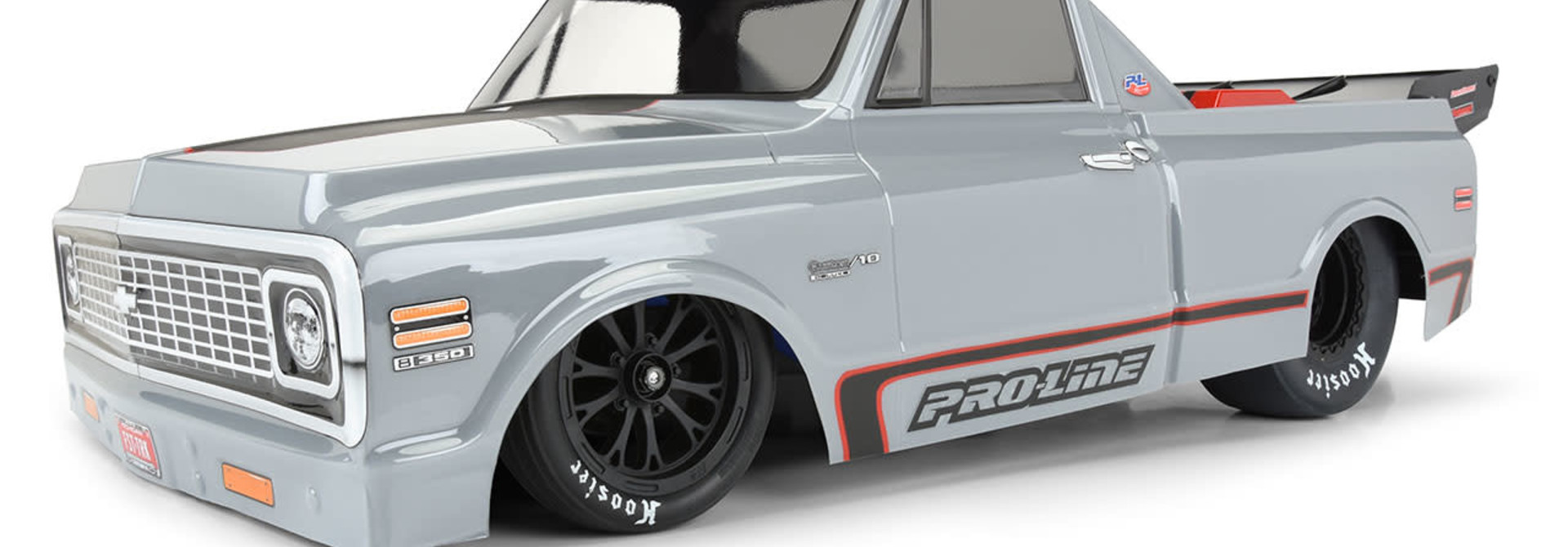 1972 Chevy C-10 Clear Body for Slash 2wd Drag Car & AE DR10 (with trimming)